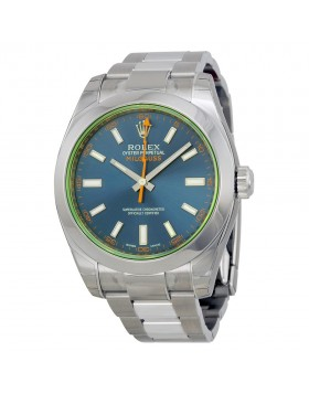 Fake Rolex Milgauss Blue Dial Mens Watch 116400GV