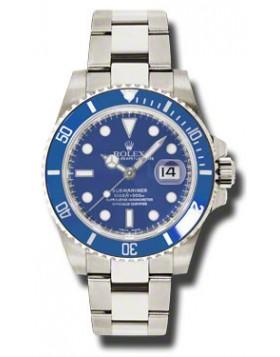 Fake Rolex Submariner Blue Index Dial Mens Watch 116619BLSO