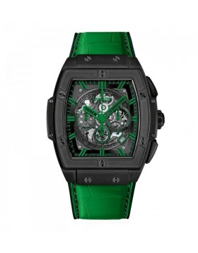 Fake Hublot Spirit Of Big Bang All Black Green Watch 601.CG.0190.LR