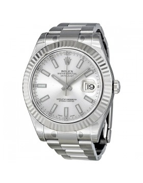 Fake Rolex Datejust II Silver Dial Mens Watch 116334SSO
