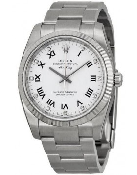 Fake Rolex Air King White Diamonds Dial Automatic Mens Watch 114234WDO