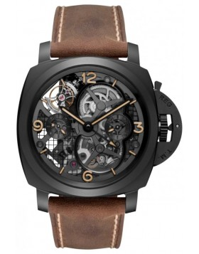 Fake Panerai Luminor 1950 Lo Scienziato Tourbillon GMT Mens Watch PAM00528