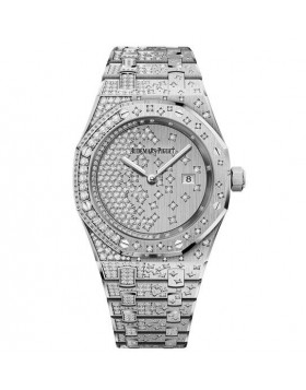 Replica Audemars Piguet Royal Oak Quartz White Gold Watch 67654BC.ZZ.1264BC.01