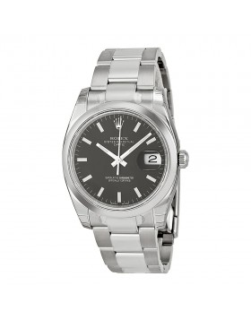 Fake Rolex Date Black Index Dial Mens Watch 115200BKSO