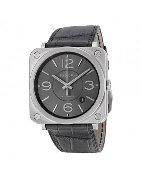 Replica Bell & Ross Officer Ruthenium Dial Mens Watch BRS-OFF-RU