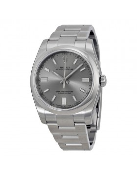 Fake Rolex Oyster Perpetual Rhodium Dial Mens Watch 116000RSO