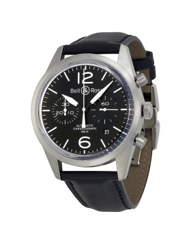 Replica Bell & Ross Vintage Chronograph Mens Watch BRV126-BL-ST/SCA