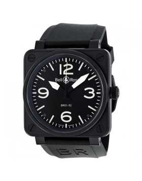 Replica Bell & Ross Black Dial Stainless Steel Mens Watch BR0192-BL-CA