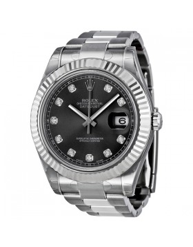 Fake Rolex Datejust II Automatic Diamond Rhodium Dial Mens Watch 116334