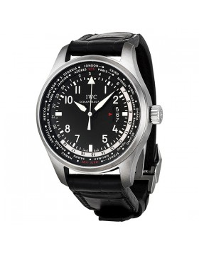Fake IWC Pilot's Worldtimer Black Dial Automatic Mens Watch IW326201