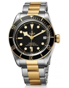Fake Tudor Heritage Black Bay Yellow Gold 41mm Watch 79733N-002