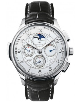 Fake IWC Grande Complication Silver Dial Automatic Mens Watch IW377401