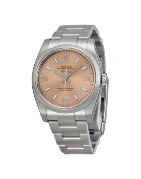 Fake Rolex Air-King Pink Arabic Numeral Index Dial Mens Watch 114200PASO