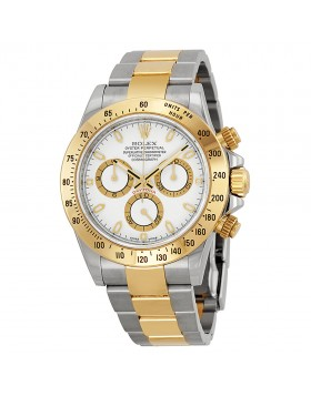 Fake Rolex Daytona White Index Dial Mens Watch 116523WSO
