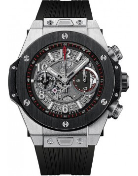 Fake Hublot Big Bang Unico Titanium Ceramic Skeletal Dial Mens Watch 411.NM.1170.NM