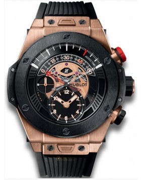 Fake Hublot Big Bang Unico Bi-Retrograde Chrono King Gold Ceramic Watch 413.OM.1128.RX