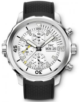 Fake IWC Aquatimer Chronograph Silver Dial Mens Watch IW376801