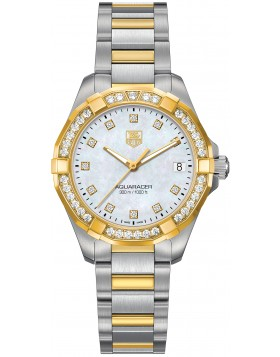 Fake TAG Heuer Aquaracer Ladies 300M Steel & Yellow Gold 32mm WAY1353.BD0917