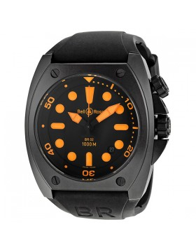 Replica Bell & Ross Marine Black Dial Mens Watch BR0292-ORANGE