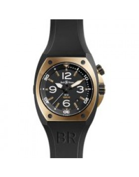 Replica Bell & Ross Marine Black Dial Mens Watch BR02-PNKGLD-CA