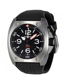Replica Bell & Ross Marine Black Dial Mens Watch BR0292-STEEL