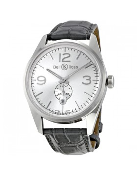Replica Bell & Ross Vintage Officer Automatic Mens Watch BR123-OFFICER-SIL
