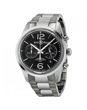 Replica Bell & Ross Officer Automatic Chronograph Mens Watch BR126-BL-ST-SS