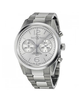 Replica Bell & Ross Officer Automatic Chronograph Mens Watch BR126-WH-ST-SS