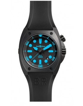 Replica Bell & Ross Marine Black Dial Mens Watch BR02-BLEU