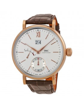 Fake IWC Portofino Silver Dial 18kt Rose Gold Mens Watch IW516102