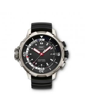 Fake IWC Aquatimer Deep Three Black Dial Mens Watch IW355701