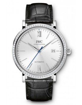 Fake IWC Portofino Silver Dial Diamond Automatic Mens Watch IW356514