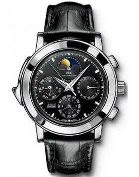 Fake IWC Grande Complication Black Dial Chronograph Mens Watch IW377017
