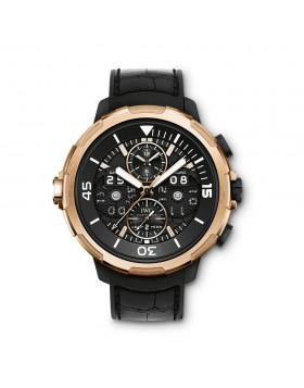 Fake IWC Aquatimer Perpetual Calendar Black Dial Mens Watch IW379401