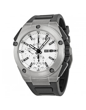 Fake IWC Ingenieur Double Chronograph Silver Dial Automatic Mens Watch IW386501