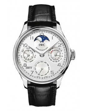 Fake IWC Portuguese Perpetual Calendar Automatic Platinum Mens Watch IW502305