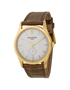 Replica Patek Philippe Calatrava White Dial Mens Watch 5196J-001