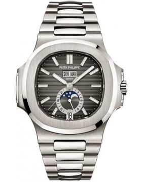Replica Patek Philippe Nautilus Black Dial Steel Mens Watch 5726/1A-001