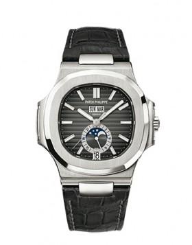 Replica Patek Philippe Nautilus Automatic GMT Moonphase Mens Watch 5726A-001