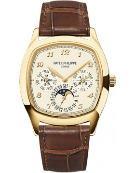 Replica Patek Philippe Grand Complications Mechanical Cream Dial Mens Watch 5940J-001