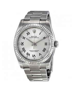 Fake Rolex Oyster Perpetual Silver Mens Watch 116034SDO