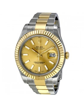 Fake Rolex Datejust II Champagne Dial Mens Watch 116333CSO