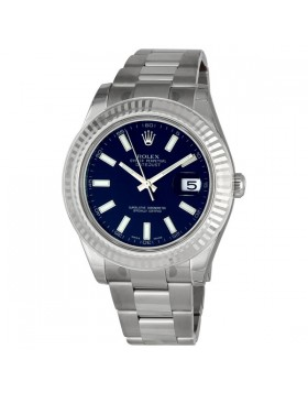 Fake Rolex Datejust II Blue Index Dial Mens Watch 116334BLSO