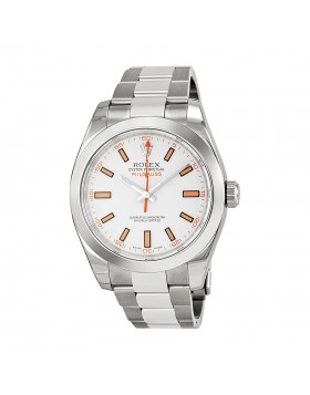 Fake Rolex Milgauss White Index Dial Mens Watch 116400WSO