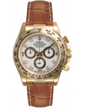 Fake Rolex Daytona White Diamond Dial Mens Watch 116518WDL