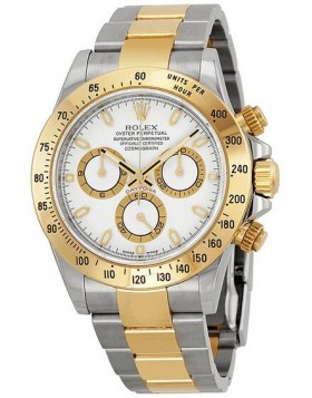 Fake Rolex Daytona White Diamond Dial Mens Watch 116523WDO