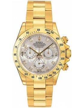 Fake Rolex Daytona Mother of Pearl Diamond Dial Mens Watch 116528MDO
