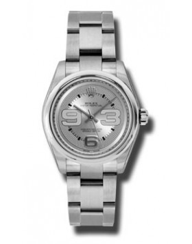 Fake Rolex Silver Dial Automatic Ladies Watch 177200SMAO
