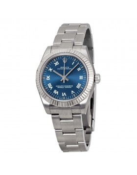 Fake Rolex Oyster Perpetual Blue Dial Ladies Watch 177234BLRO