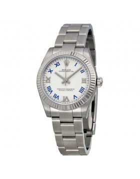 Fake Rolex Oyster Perpetual White Dial Ladies Watch 177234WBLRO
